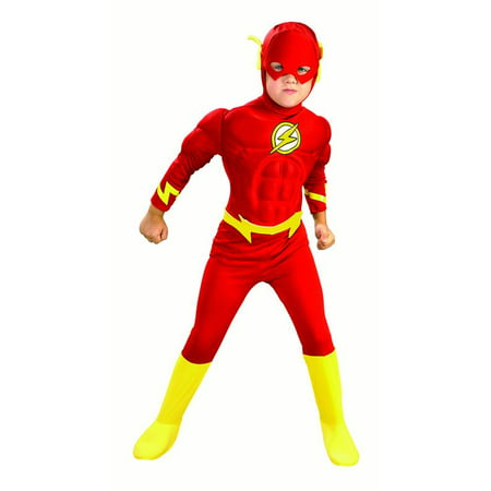 Rubies Flash Muscle Chest Boys Halloween Costume](Rubies Batgirl Tutu Child Halloween Costume)