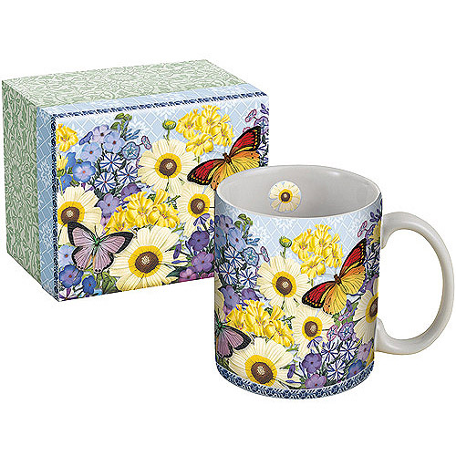 Lang 14-Ounce Ceramic Mug with Gift Box, Assorted Patterns