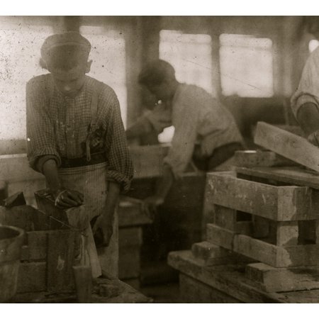 Young Boy Polishing Marble In Vermont Marble Co Centre Rutland Vt Most Of These Are Illiterate Location Centre Rutland Vermont Poster Print
