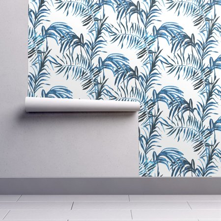 Peel-and-Stick Removable Wallpaper Tropical Palm Leaves Jungle Plant