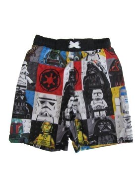 Disney Boys Multi Color Star Wars Character Swim Shorts
