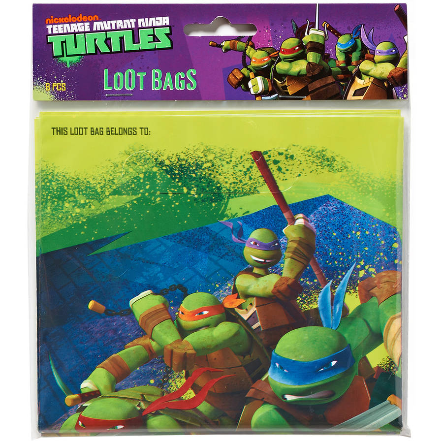 Teenage Mutant Ninja Turtles Treat Bags, Pack of 8, Party Supplies