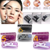 6in1/5in1/4in1Derma Roller Set Microneedle Skin Care Face Brush & Stamp w/Travel Case