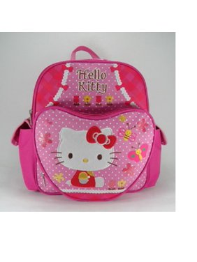 b9fec584747c Product Image Small Backpack - Hello Kitty - Pink Butterflies and Bees New  School Bag 629878