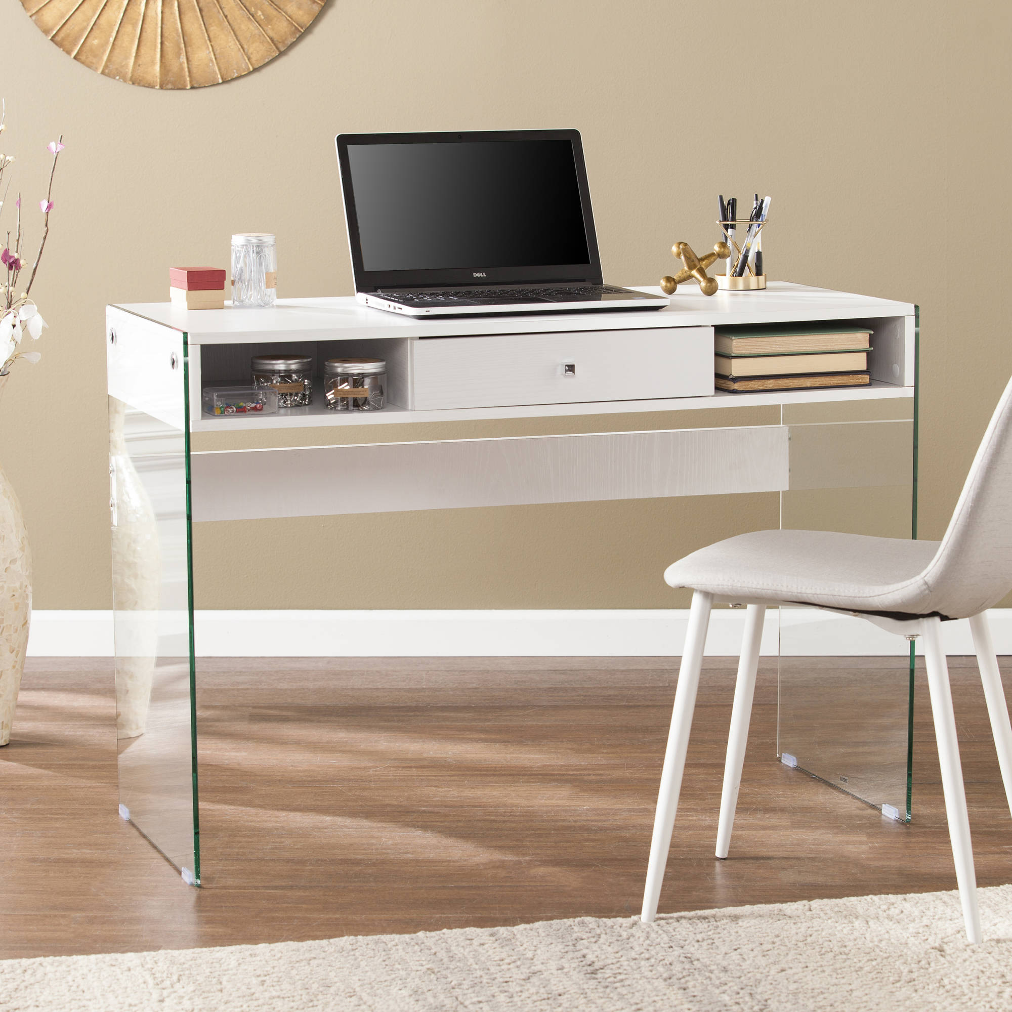 southern enterprises dunia contemporary writing desk with