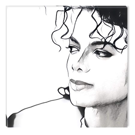 Startonight Canvas Wall Art Black And White Abstract Michael Jackson Celebrity Prisma Dual View Surprise Artwork Modern Framed Ready To Hang Wall Art