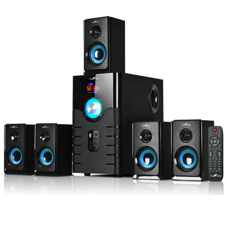 beFree Sound 5.1 Channel Surround Sound Bluetooth Speaker System- (Canon Sm V1 5-1 Channel Surround Microphone)