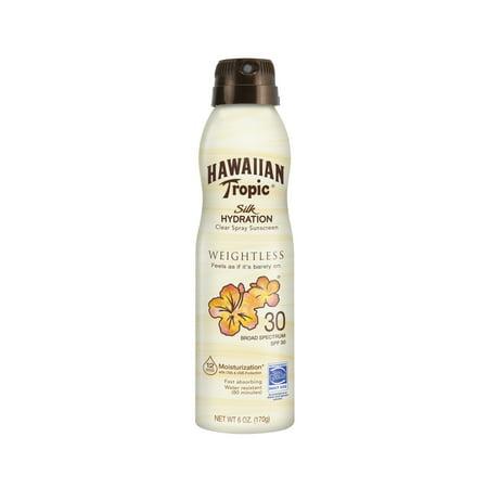 Hawaiian Tropic Silk Hydration Weightless Sunscreen C-Spray SPF 30, 6 (Best Sunscreen For Hawaii)