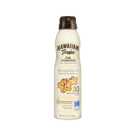 Hawaiian Tropic Silk Hydration Weightless Sunscreen C-Spray SPF 30, 6 (Graham Webb Thick Infusion Weightless Body Spray)