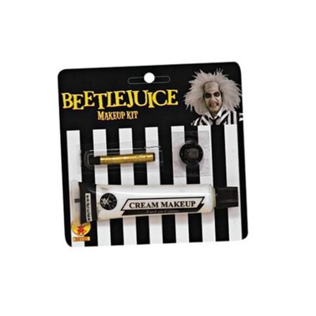 Beetlejuice Makeup Kit Adult Halloween Costume - Split Face Halloween Makeup
