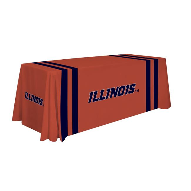 Victory Corps 810026ILL-002 6 ft. NCAA Illinois Fighting Illini Dye Sublimated Table Throw - No.002