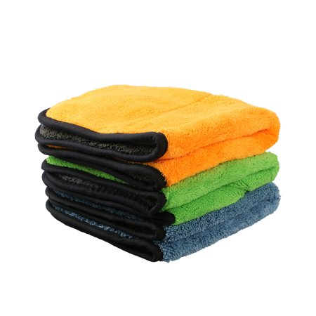 TSV Super Microfiber Absorbent Car Cleaning Towel Wiping Cloth Car Care Coral