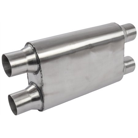 JEGS Performance Products 30246 Chambered Deep-Tone Muffler 2.500 in. Dual Inlet