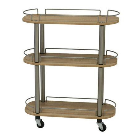 Household Essentials 3-Shelf Utility Cart Bottom Tub Shelf Utility Cart