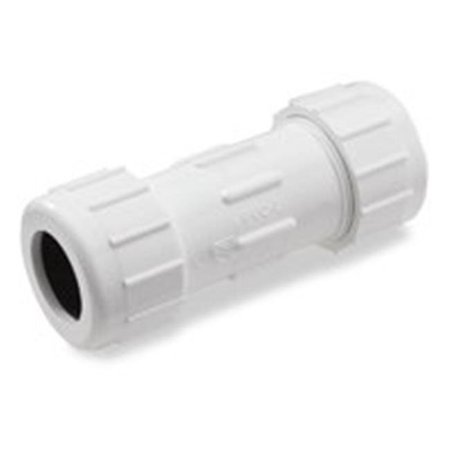 King Brothers CPC-0500 SCH 40 PVC Compression Coupling, 1/2