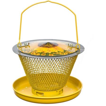NO/NO Designer Sunflower Single Tier with Tray Wild Bird Feeder