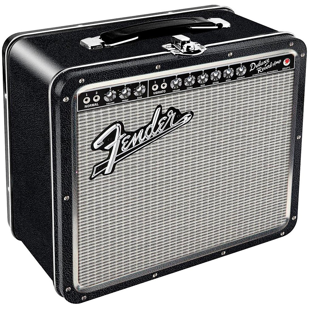 Hal Leonard Fender Black Tolex Metal Lunch Box (Blackface)