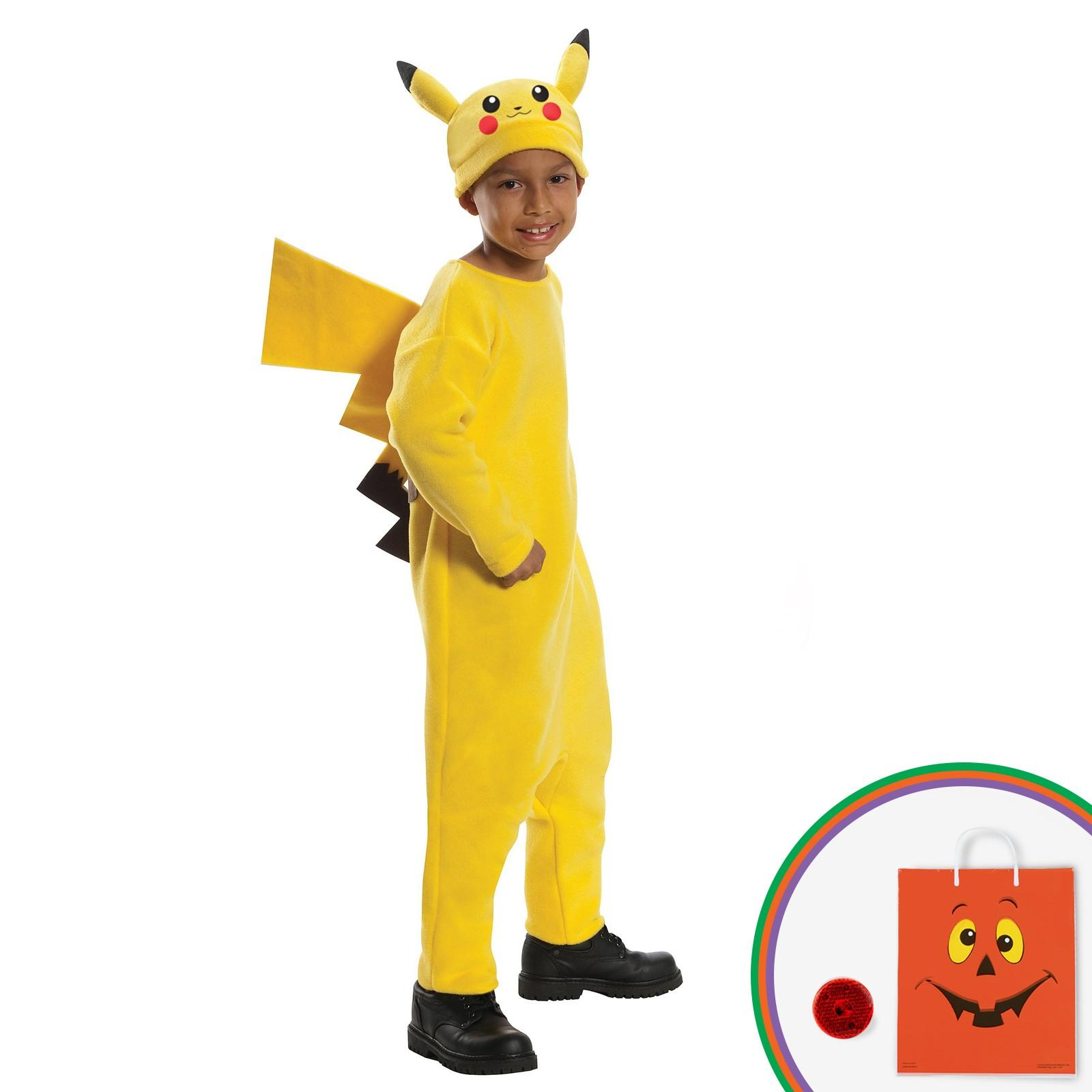 Pokemon - Deluxe Pikachu Child Costume Kit with Free Gift