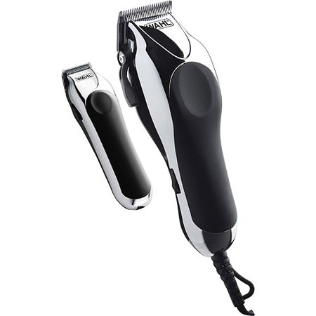 WAHL Deluxe Chrome Pro Clipper and Compact Trimmer Kit ...