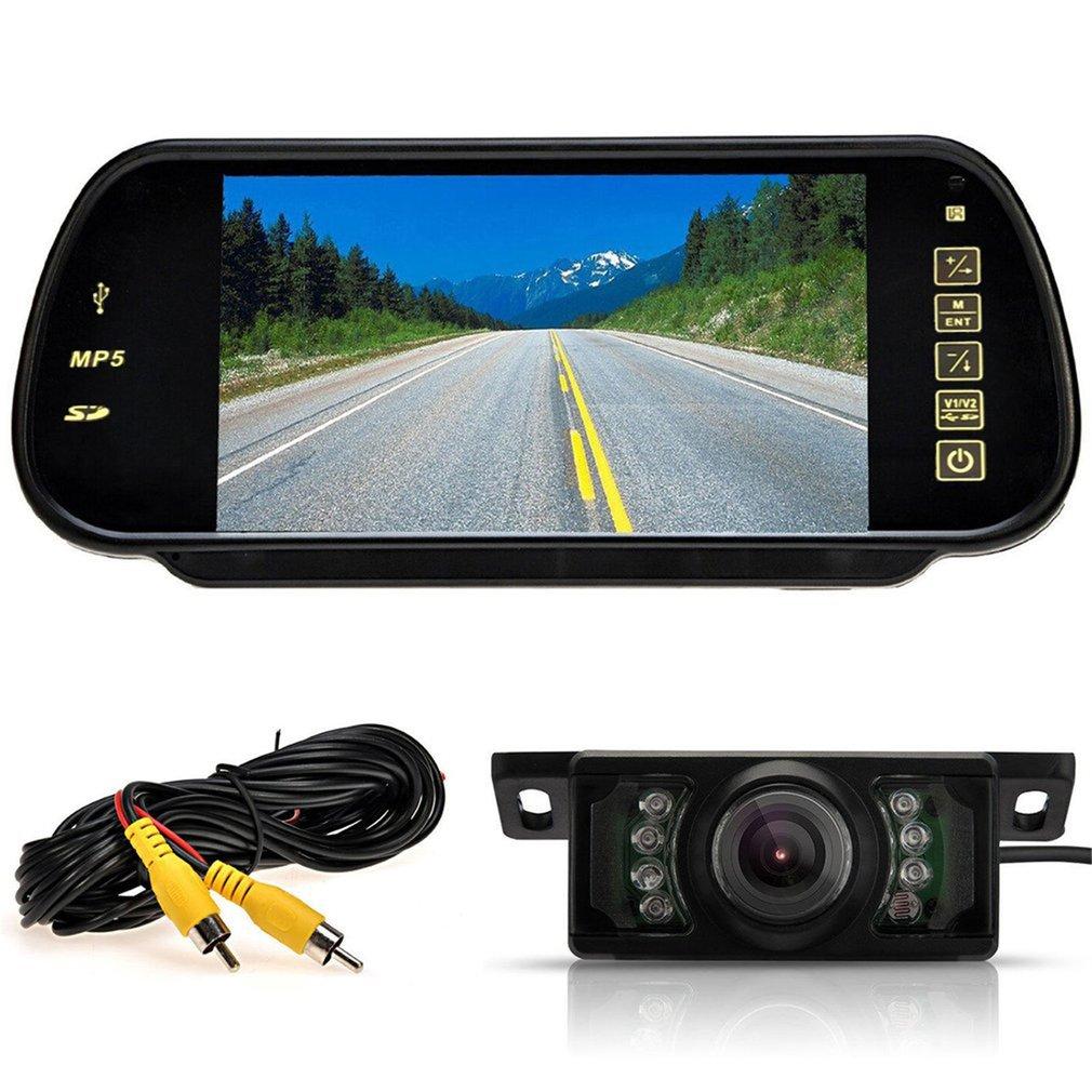 "WIRELESS CAR BUS VAN REAR VIEW KIT 7"" LCD MIRROR MONITOR + IR REVERSING CAMERA"