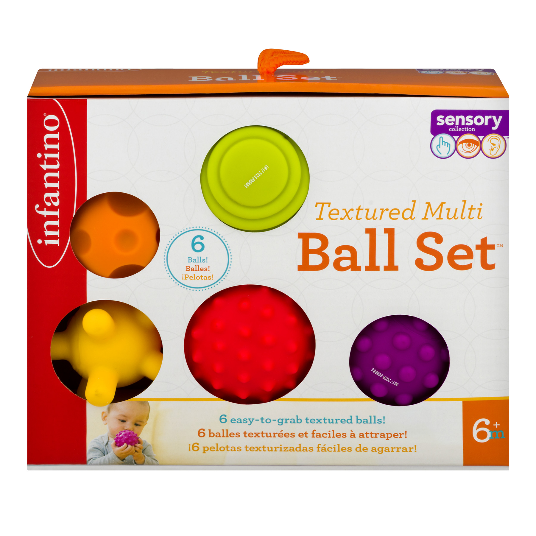 Infantino Textured Multi Ball Set 6m+- 6 CT6.0 CT