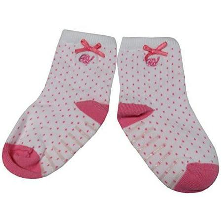 Polo Ralph Lauren Infant Girls Socks White/Pink, 18-24 Months, Single Pack