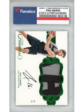 Pau Gasol San Antonio Spurs Autographed 2016-17 Panini Flawless Relic #H-PAU #3/5 Card - Panini - Fanatics Authentic Certified