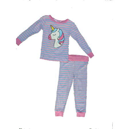 Girls Pajamas Size 7 (Girls 2-piece Unicorn Logo Pajama Sleep Set (Big Girl's & Little)