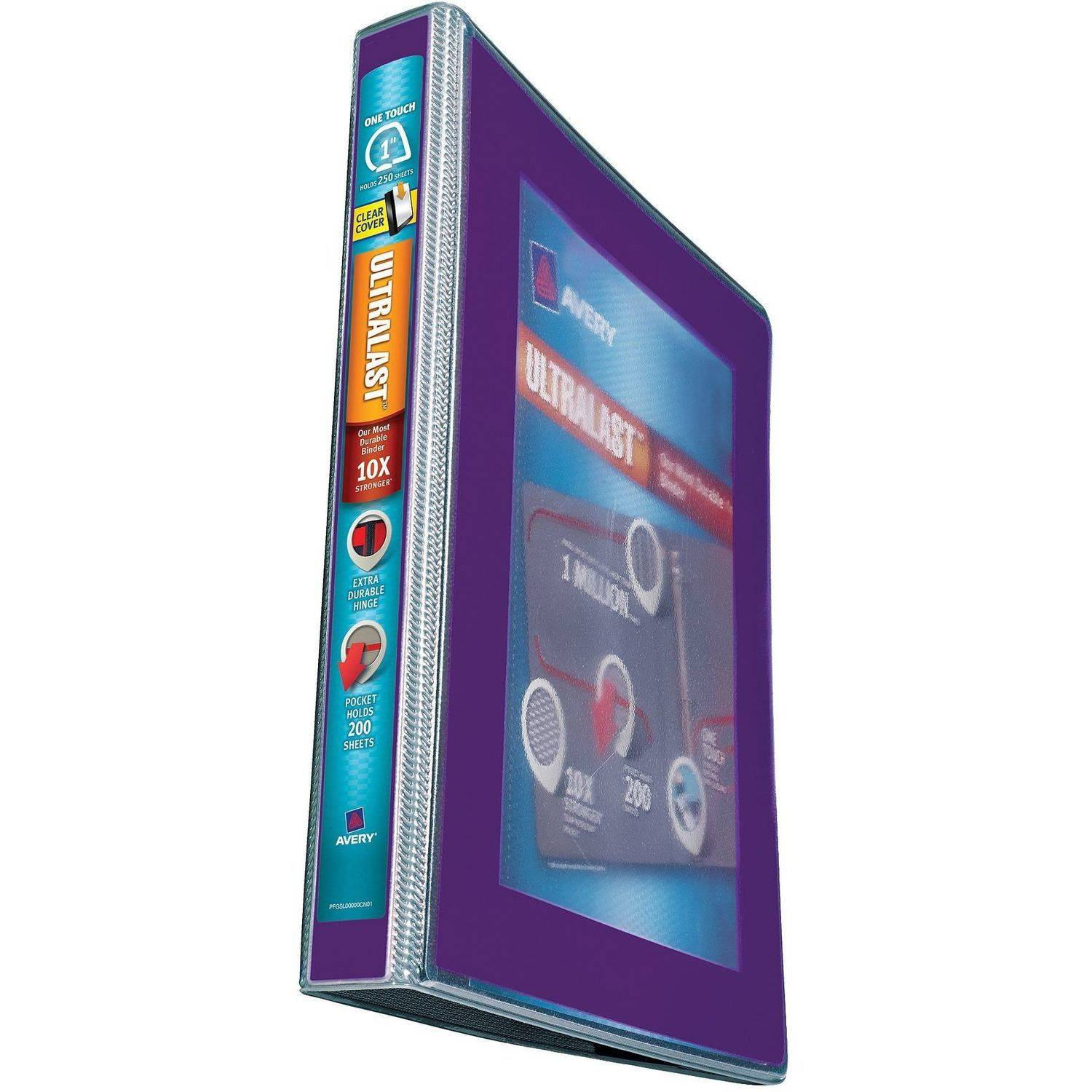 "Avery(R) Ultralast(TM) Binder with 1"" One Touch Slant Rings 79728, Assorted"