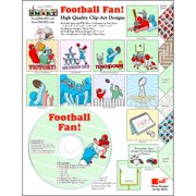 ScrapSMART Football Fan Clip-Art CD-ROM, Colorful Illustrations for Scrapbook, Craft, Sewing
