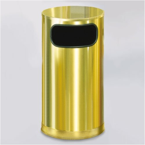 Rubbermaid Commercial Products Metallic Designer Receptacle 12 Gallon Trash Can
