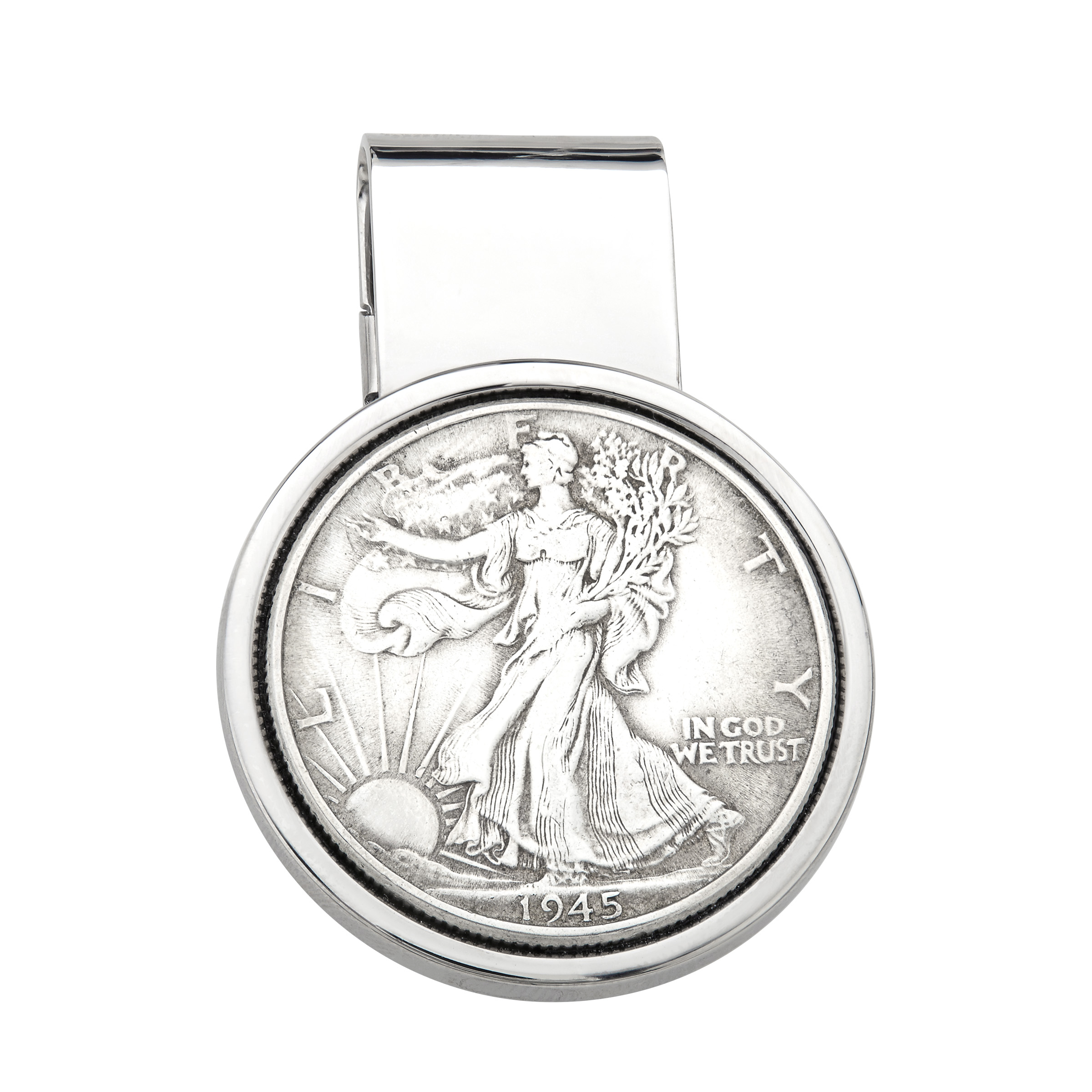 Richline Dolan Bullock Walking Liberty Coin Money Clip in...