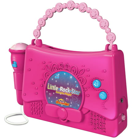 Kids Karaoke Machine for Girls - Little Rock Star Music Player - 10 Programmed Songs - iPod Holder - AUX Cable and Batteries Included ()