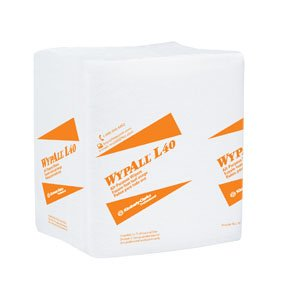 "1034065 PT# 5701 Wiper Ap Wypall L40 Cleaning Sup 12.5x13"" 1/4 Fold Wht 1008/Ca Made by Kimberly Clark Professional"
