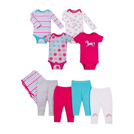 Star-Pack Mix 'n Match Outfits, 8pc Baby Shower Gift Set (Baby Girls)