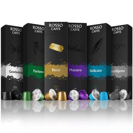nespresso compatible capsules variety pack 60 pods by rosso caffe. Black Bedroom Furniture Sets. Home Design Ideas