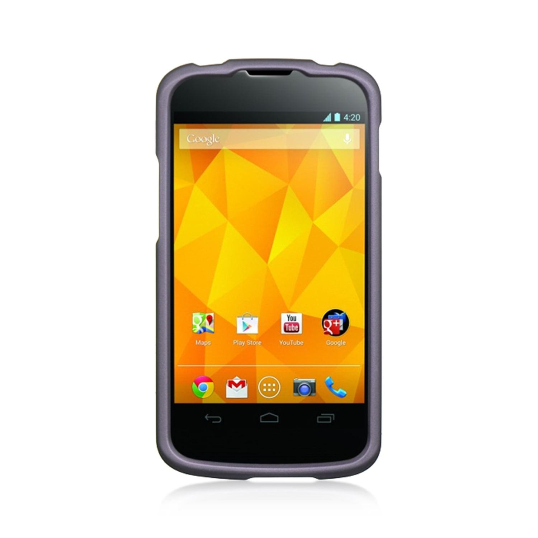 LG Google Nexus 4 Case, by Insten Rubberized Hard Snap-in Case Cover For LG Google Nexus 4 E960