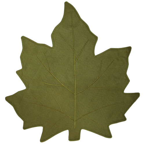 Better Homes and Gardens Shaped Leaf Placemat, Green