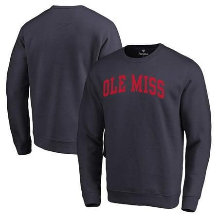 Ole Miss Fleece (Ole Miss Rebels Fanatics Branded Basic Arch Sweatshirt - Navy)