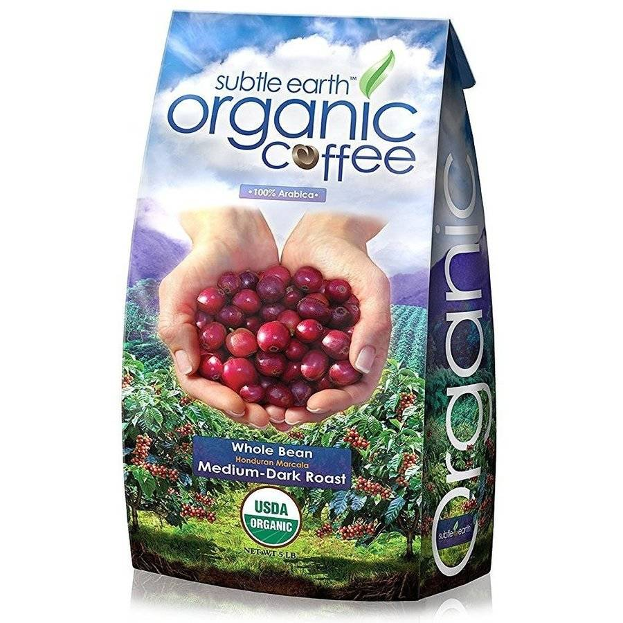 Cafe Don Pablo Subtle Earth Organic Honduran Marcala Medium-Dark Roast Whole Bean Coffee, 5 lbs