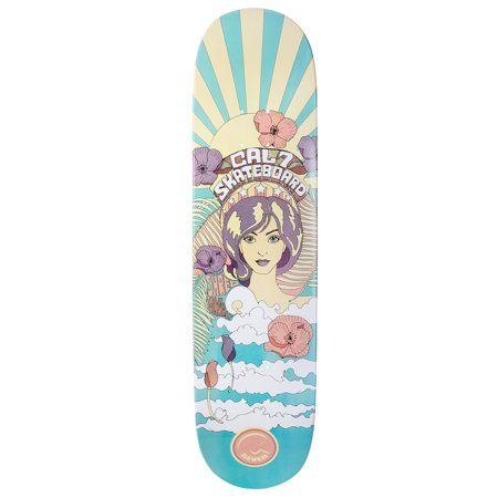 Cal 7 Psychedelic Graphic Skateboard Deck | 7.75 8.0 8.25 8.5 Inch | Canadian Maple (8.0