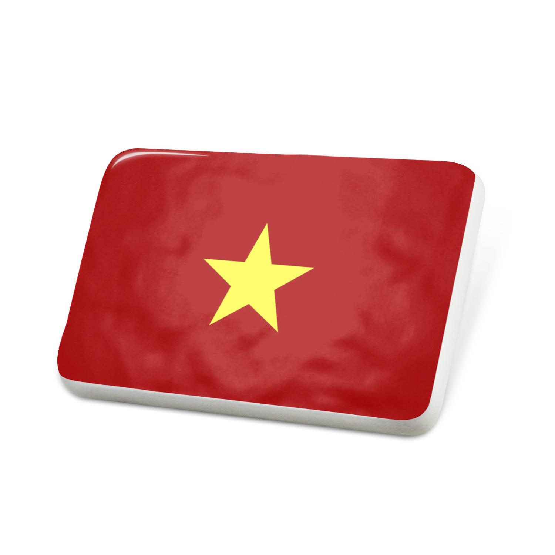 Porcelein Pin Vietnam Flag Lapel Badge � NEONBLOND by NEONBLOND