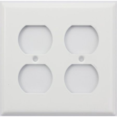 Stamped Steel Smooth White 2 Gang Duplex Outlet Switch (Hole 2 Gang Aluminum Outlet)
