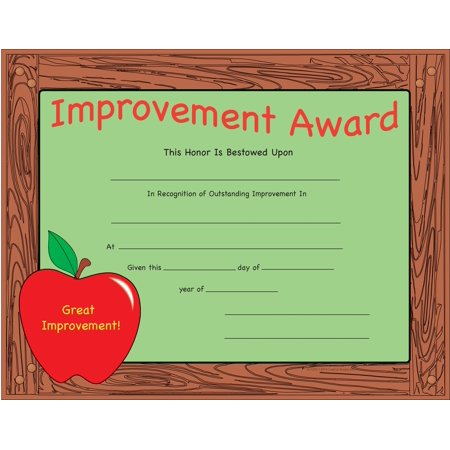 Recognition Certificate - Improvement Award](Certificate Of Award)