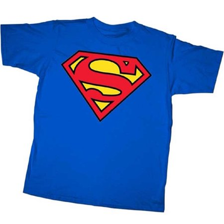 Superman Classic Shield Logo Adult and Youth T-Shirt