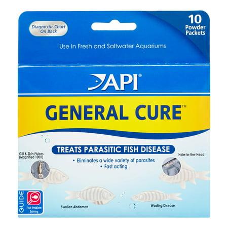 API General Cure Parasite & Ick Treatments Fish & Aquatic Supplement, 10 (Ornamental Fish Treatment)
