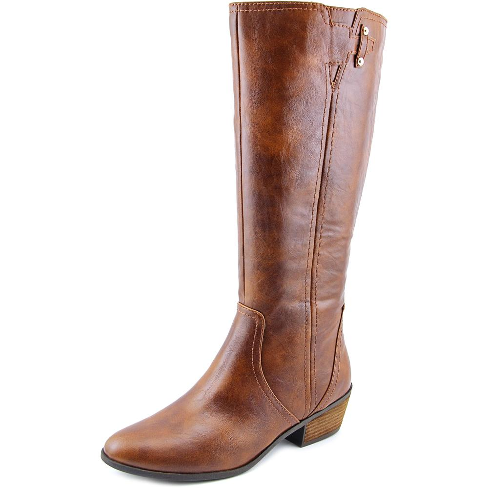 Dr. Scholl's Brilliance Wide Calf Women Round Toe Leather Brown Knee High Boot by Dr. Scholl's