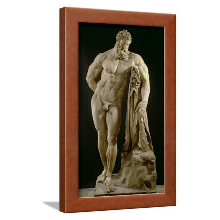 The Farnese Hercules, Roman Copy of Greek Original Framed Print Wall Art By Lysippos for $<!---->
