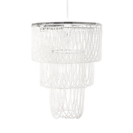 Tadpoles Pearlized Beaded Triple Layer Shade, Chandelier Style (Beaded Chandelier)