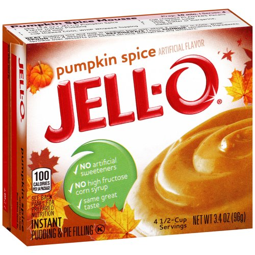JELL-O Instant Pumpkin Spice Pudding & Pie Filling, 3.4 oz